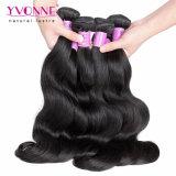 100%のマレーシア人のバージンのRemyの毛のよこ糸