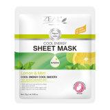熱心の表面心配レモン及び真新しく涼しいエネルギーシートマスク25ml