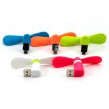 2in1 lockert beweglichen Mini-androiden Kühlventilator USB2.0 für Telefon-Schreibtisch Samsung-Andriod auf