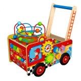 Игрушка тележки деревянной коробки нового способа многофункциональная для малышей и детей