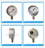 高品質圧力より正確に測低いEnrty圧力正確に測オイルによって満たされる圧力計