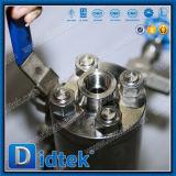 Soupape de Dbb d'embouts filetés de l'acier inoxydable F316 de Didtek