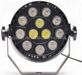 12PCS 1W LED البسيطة أضواء PAR RGBW المرحلة ضوء ديسكو حزب ضوء