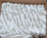 Hilados de seda teñidos