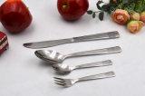 La muestra libre de la mejor venta modifica el conjunto de la cuchillería para requisitos particulares del acero inoxidable 4PCS de la insignia
