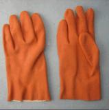 Померанцовая перчатка PVC с тканью Терри Liner-5132