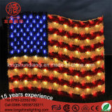 Do motivo americano do diodo emissor de luz do Ce IP44 de Hotsale luz decorativa da corda decorativa para o dia de Natioanal