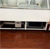 Type de poitrine d'énergie d'économie refroidisseur d'étalage de nourriture d'épicerie avec la porte en verre incurvée dans l'avant