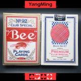 Cartão de jogo dedicado do póquer do casino da abelha de Estados Unidos para jogos de jogo do casino com cor vermelha e azul Ym-PC01