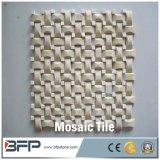 Telha de mármore de pedra natural Polished do mosaico do preço barato no engranzamento