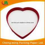 Preciosa personalizada dulce en forma de corazón caja de papel para embalaje