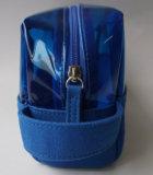 Gute Qualitätsblauer Segeltuch-Kosmetik-Beutel