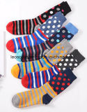 Носки людей МНОГОТОЧИЯ польки колена высокие счастливые изготовленный на заказ