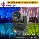indicatore luminoso capo mobile del punto del fascio di 200W 5r per l'evento della fase, l'esposizione vivente e la decorazione della barra