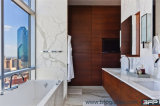 Unidades impermeáveis comerciais da vaidade do banheiro do folheado de madeira para o hotel