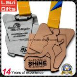 Personalizado de aleación de zinc Ejecución de medalla en acabado antiguo