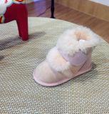 Soli bottini duri della neonata della pelliccia di colore rosa della pelle di pecora del fronte di Fouble