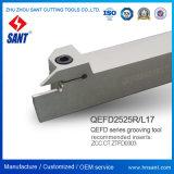 Hulpmiddelen die van ISO de Houders van het Hulpmiddel Zhuzhou die Sant draaien Oppervlakte Toolholder groeven die de Houder van het Hulpmiddel Qefd2525r17 groeven pasten Tussenvoegsels Ztfd0303 aan