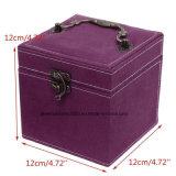 Ювелирные изделия кладут кожу в коробку PU качества хранение устроителя 3 подарков венчания слоя