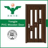 Porte en bois de PVC de forces de défense principale de porte de vente de porte en bois chaude de PVC