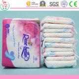 Garniture sanitaire féminine des serviettes hygiéniques 250mm de femmes de coton mou