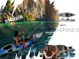 Sentarse solo en plástico de la pesca la carlinga del kayak