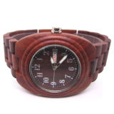 Double Bezel Customized Red Wooden Watch
