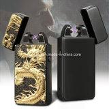 Doppio accenditore della sigaretta dell'arco impresso nuovo drago