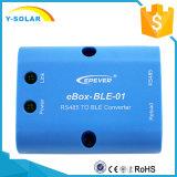 Uso de Bluetooth do telefone móvel para uma comunicação solar Ebox-BLE-01 do controlador do Ep Tracera