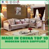 Europäisches Wohnzimmer-Gewebe-hölzernes Sofa