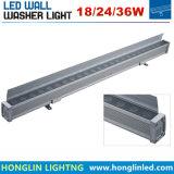 Im Freien Wäsche-Lampe DC24volt 24W LED DMX RGB Wallwasher der Wand-IP65