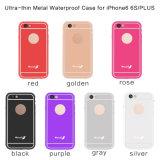Водоустойчивый передвижной случай с задней стороной обложки металла на iPhone 6 добавочных 5.5inch (RPTMLPRO-6P)