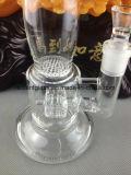 Waterpijp van het Glas Selliing van de Vervaardiging van Bong van de honingraat de Hete met Stijl en Percolator 18.8mm Glas Bongs van de Band van de Verspreider van het Glas van de Honingraat