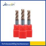 4つのフルートは金属の処理のための半径の端製造所に角を付ける
