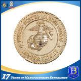3D金属のダイヤモンドの端(Ele-C003)が付いている昇進の硬貨の円形浮彫り