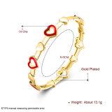 Joyería plateada oro de imitación del brazalete de la inserción del corazón