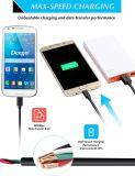 USB de alta velocidade 2.0 do micro cabo Android superior do USB um macho aos micro cabos cobrando da sincronização para Samsung, nexo, LG, Motorola, Smartphones Android