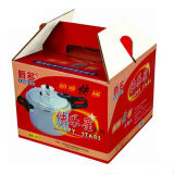 Fertigung-gewölbtes Papier-Verpackungs-Karton-Kästen mit Griff