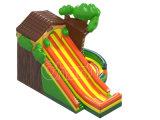 幸せなジャングルのゲームのための膨脹可能な子供の警備員のスライド