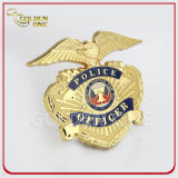A polícia chapeada ouro Badges emblemas do exército com alta qualidade