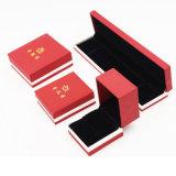 Boîte en plastique en cuir de vente chaude d'unité centrale pour le procès de bijou (J17-E1)