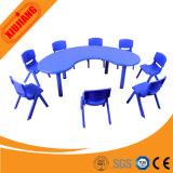 아이를 위한 고품질 학교 가구 달 모양 테이블
