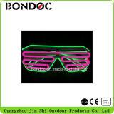 El alambre colorido del EL de las gafas de sol al por mayor del LED adorna los vidrios para el partido