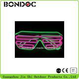 O fio colorido do EL dos óculos de sol por atacado do diodo emissor de luz decora vidros para o partido