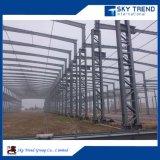 Montaggio d'acciaio della costruzione circa i gruppi di lavoro della fabbrica dello zucchero