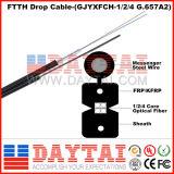 G657A LSZH 1 o 2, cable de caída de 4 núcleos FTTH con Messenger