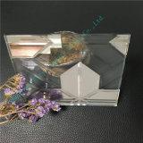 Vidrio del vidrio laminado/arte de Brown oscuro/vidrio decorativo para el edificio