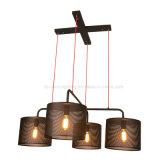 Hängende helle Lampe des Form-moderne Eisen-Leuchter-LED für Gaststätte