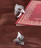Anéis chapeados prata da águia do vintage para a jóia da forma dos homens das mulheres