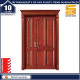 Modèles en bois de porte de Sashed de double de porte de porte extérieure de /Interior avec la porte de sûreté de placage de nature